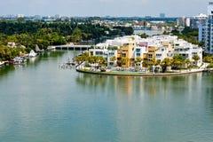 Luxury condos in Miami Beach royalty free stock photography