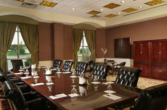 Luxury conference room. A luxury conference room with leather chairs Stock Image