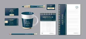 Luxury Corporate identity. Editable corporate identity template. Stationery template design. Luxury Corporate identity. Editable corporate identity template Stock Photography