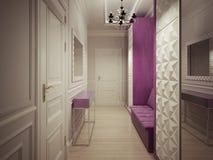 Luxury corridor interior Royalty Free Stock Image