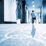 Luxury corridor and men Stock Photo