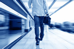 Luxury corridor and men Stock Images
