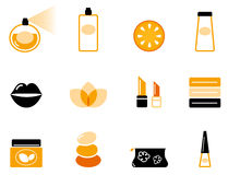 Luxury cosmetics and wellness icon set Royalty Free Stock Images