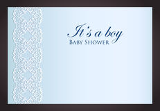 Luxury creamy invitation with imitation of lace Stock Photos