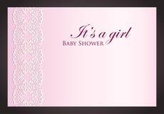 Luxury creamy invitation with imitation of lace Stock Photo