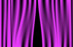 Luxury creases purple curtain (vector) Royalty Free Stock Photo
