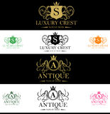 Luxury Crest Logo Royalty Free Stock Photography