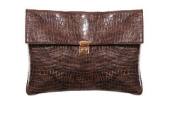 Luxury crocodile leather handbag Stock Photography
