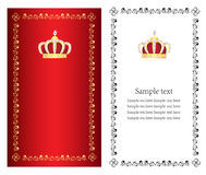 Luxury crown background Stock Photography
