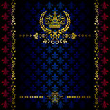 Luxury crown decoration frame. Illustration Royalty Free Stock Photos