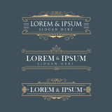 Luxury crown frame vector logos calligraphy flourishes elegant t Stock Photos