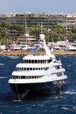 Luxury cruise anchored Royalty Free Stock Photos