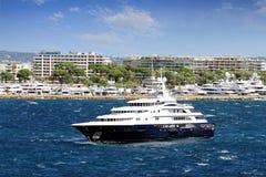 Luxury cruise anchored Stock Image