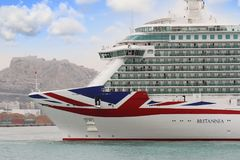 Big cruise Britannia of P&O Company Royalty Free Stock Photography