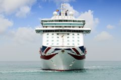 Big cruise Britannia of P&O Company stock photo