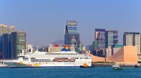 Luxury cruise in hong kong Royalty Free Stock Photos