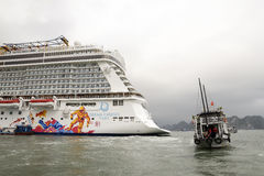 Luxury cruise liner,Genting dream cruises of Hongkong Royalty Free Stock Image