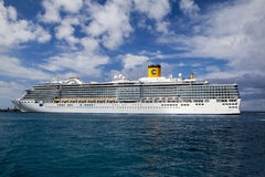 Luxury Cruise Liner At Port In Cozumel, Mexico Royalty Free Stock Photo