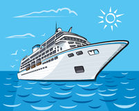 Luxury cruise liner Royalty Free Stock Photography