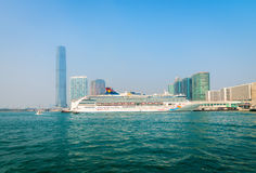 Luxury cruise liner, the Superstar Virgo from Star Cruises, Hong Royalty Free Stock Photos