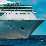 Luxury cruise liner in travel Stock Photo