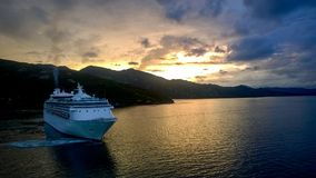 A luxury cruise liner Stock Photography
