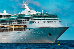 Luxury cruise liner in travel Royalty Free Stock Photo