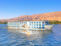 Luxury cruise on Nile. Images from Nile: Touristic cruise Royalty Free Stock Photography