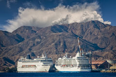 Luxury cruise passenger ships in port of Eilat, Israel Stock Photos