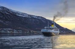 Luxury Cruise Sailing in Tromso, Norway. Stock Photos