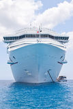 Luxury Cruise Ship. Anchored in the Cayman Islands Stock Photography