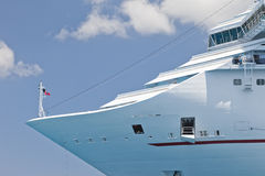 Luxury Cruise Ship. Bow of Luxury Cruise Ship Anchored in the Cayman Islands Stock Photography