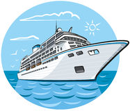 Luxury cruise ship Royalty Free Stock Image