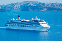 Luxury Cruise Ship. Sailing in the Mediterranean Stock Image