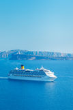Luxury Cruise Ship. Sailing in the Mediterranean Stock Images
