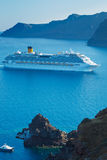 Luxury Cruise Ship. Sailing in the Mediterranean Stock Photo
