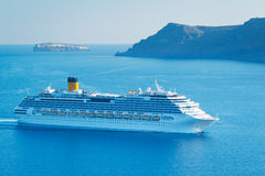 Luxury Cruise Ship. Sailing in the Mediterranean Stock Photos