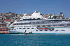 Luxury cruise ship. In Bosporus, Istanbul Royalty Free Stock Photo