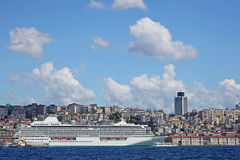 Luxury cruise ship in Bosporus Stock Photo