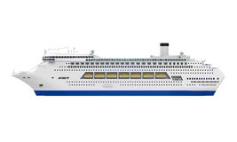 Luxury Cruise Ship. Isolated on white background. 3D render Royalty Free Stock Images