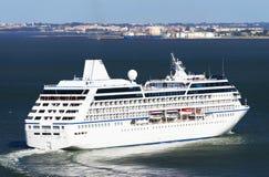 Luxury cruise ship in Lisbon Stock Photos