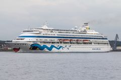 Luxury cruise Ship. On the sea in Kiel, Germany Royalty Free Stock Images