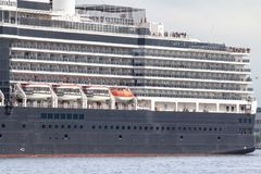 Luxury cruise Ship. On the sea in Kiel, Germany Stock Images