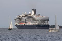 Luxury cruise Ship. On the sea in Kiel, Germany Royalty Free Stock Image