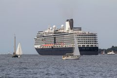 Luxury cruise Ship. On the sea in Kiel, Germany Stock Image