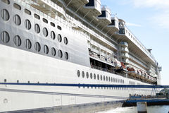 Luxury cruise ship moored at cobh Royalty Free Stock Photos