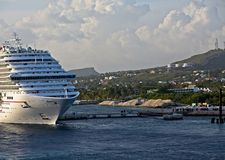 Cruise Ship at New Dock Stock Photography