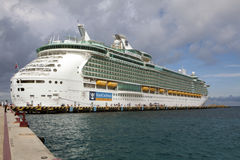 Luxury Cruise Ship At Port In Cozumel, Mexico Royalty Free Stock Photos