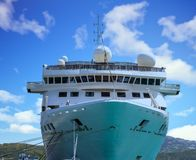 Cruise Ship in Port of St Thomas. A Luxury Cruise Ship in Port of St Thomas Stock Images
