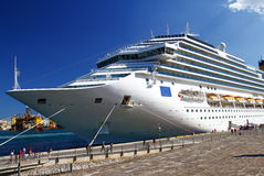 Luxury cruise ship sailing Stock Photo
